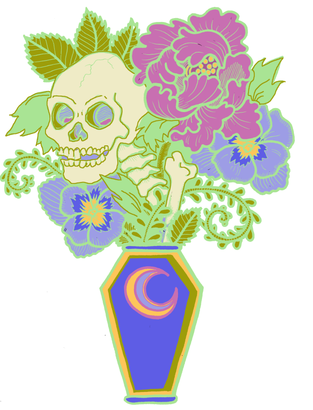 Coffin Bouquet colored version 1